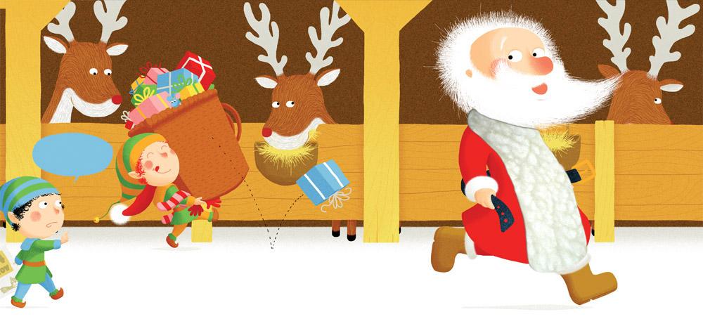 Etable des rennes du père Noël
