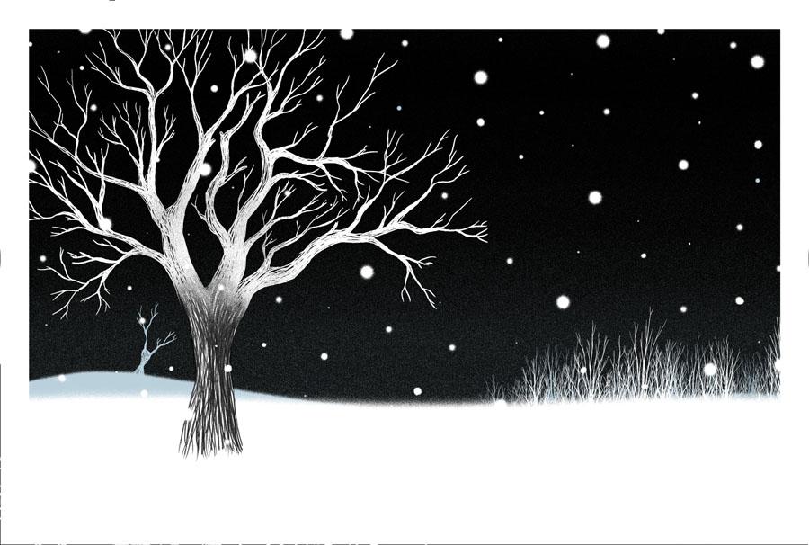 un arbre la nuit du loup jalbert