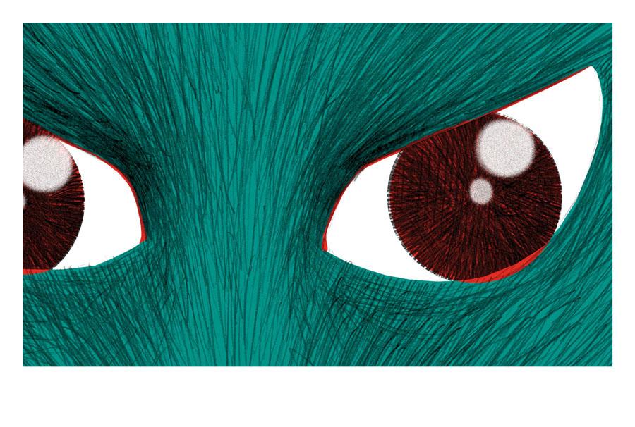 loup regarde de son oeil féroce jalbert illustration