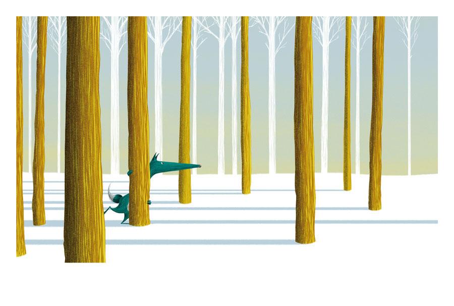 loup scrute l'horizon jalbert illustration