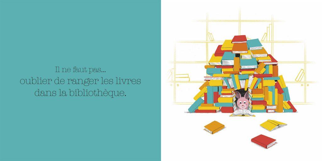 Ranger les livres de la bibliothèque.Dictionnaire des grosses bêtises, Larousse, Jalbert