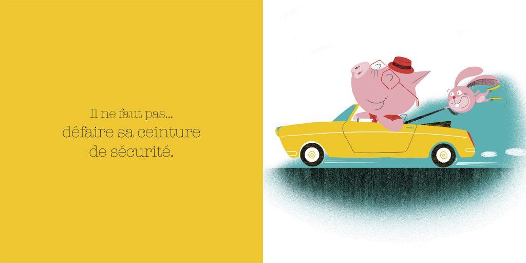 Ne pas défaire sa ceinture de sécurité. Dictionnaire des grosses bêtises, Larousse, Jalbert