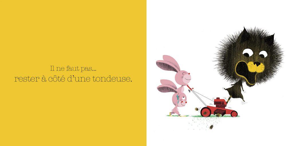 Ne pas s'approcher de la tondeuse. Dictionnaire des grosses bêtises, Larousse, Jalbert