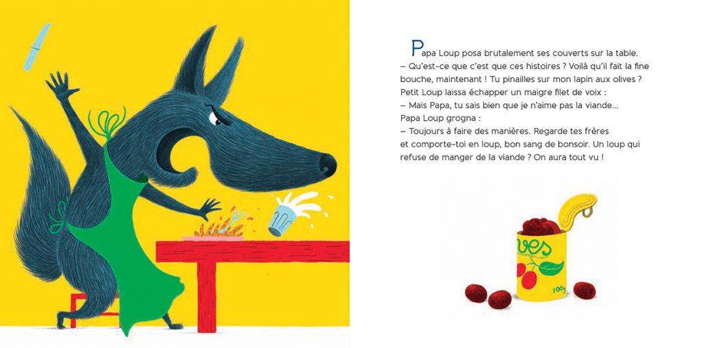 le loup qui préférait les carottes - texte Aurélie Valognes - illustrations e Philippe Jalbert